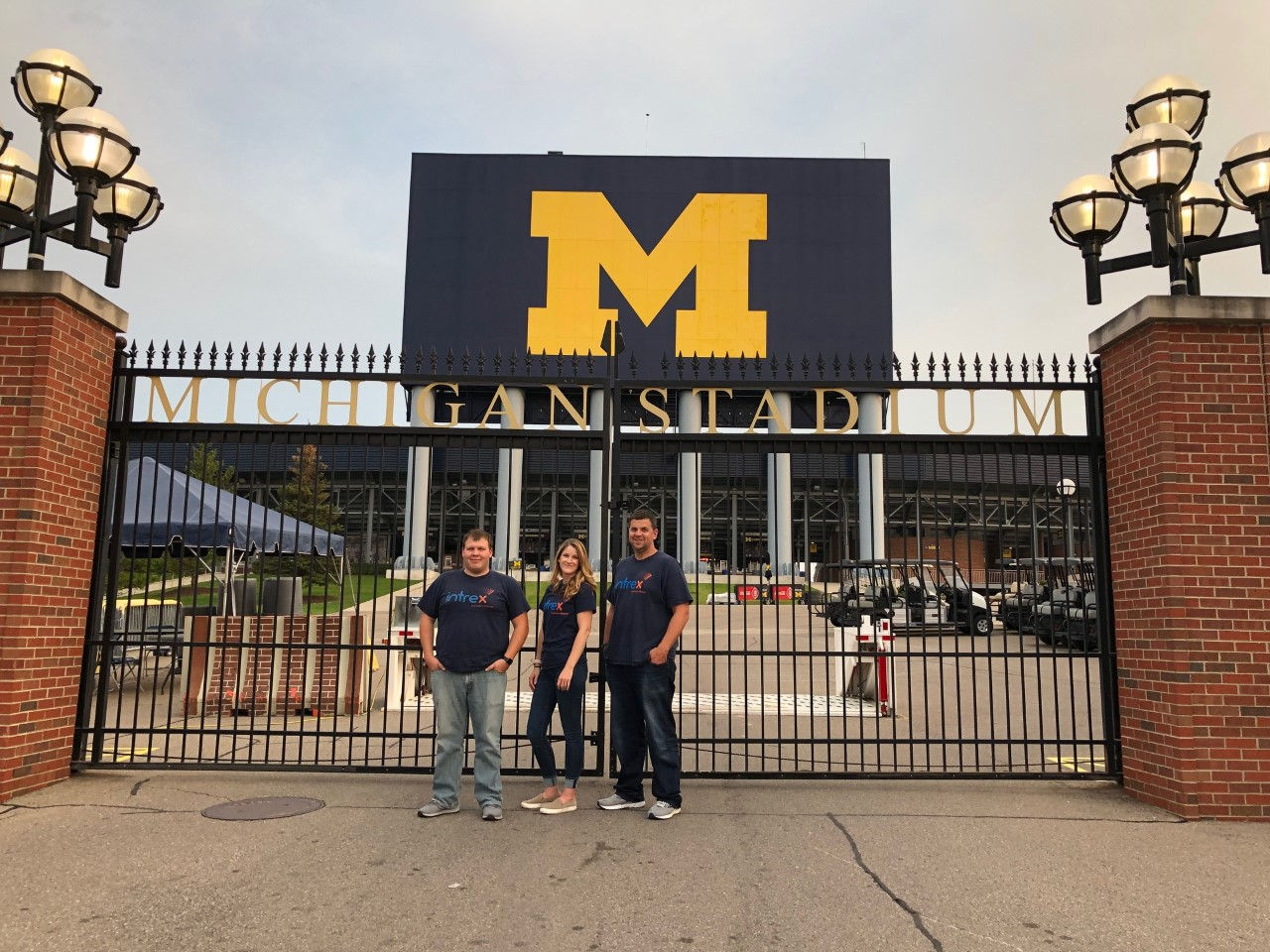 Intrex team outside of Michigan State